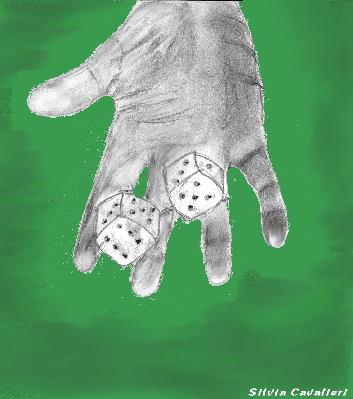 mano della sorte su tappeto verde