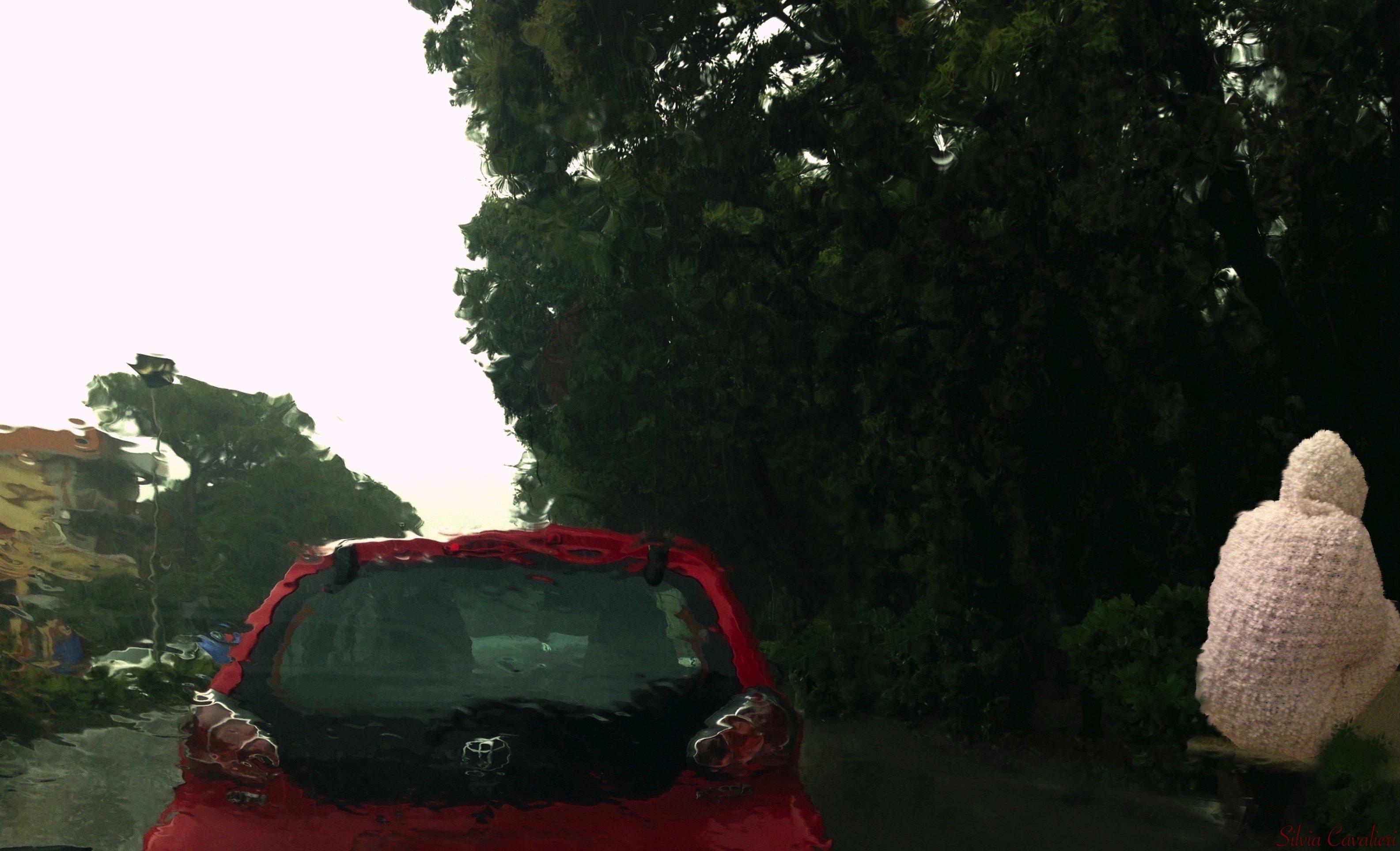 pioggia forte fredda