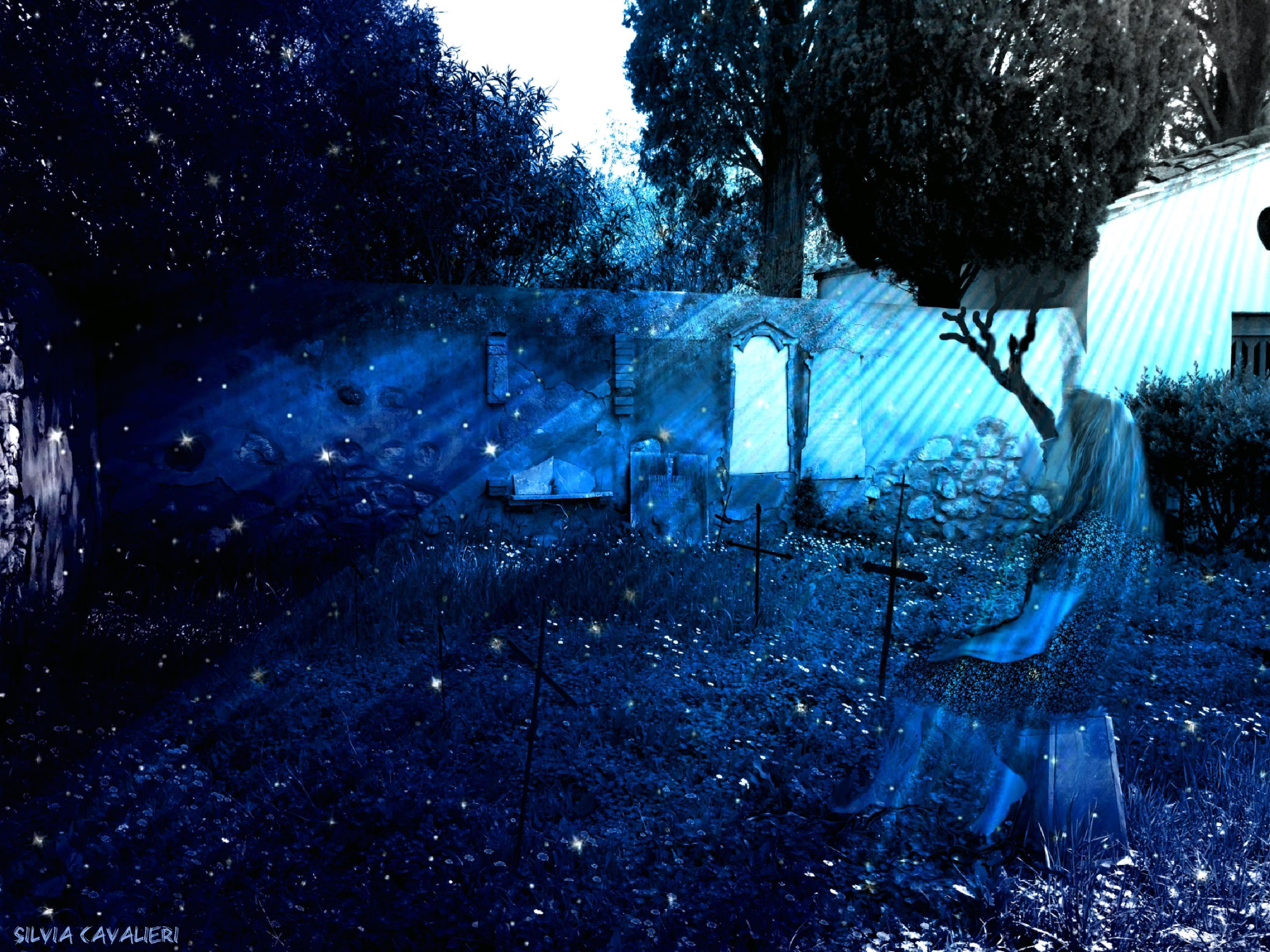 cimitero di Bolgheri con fantasma