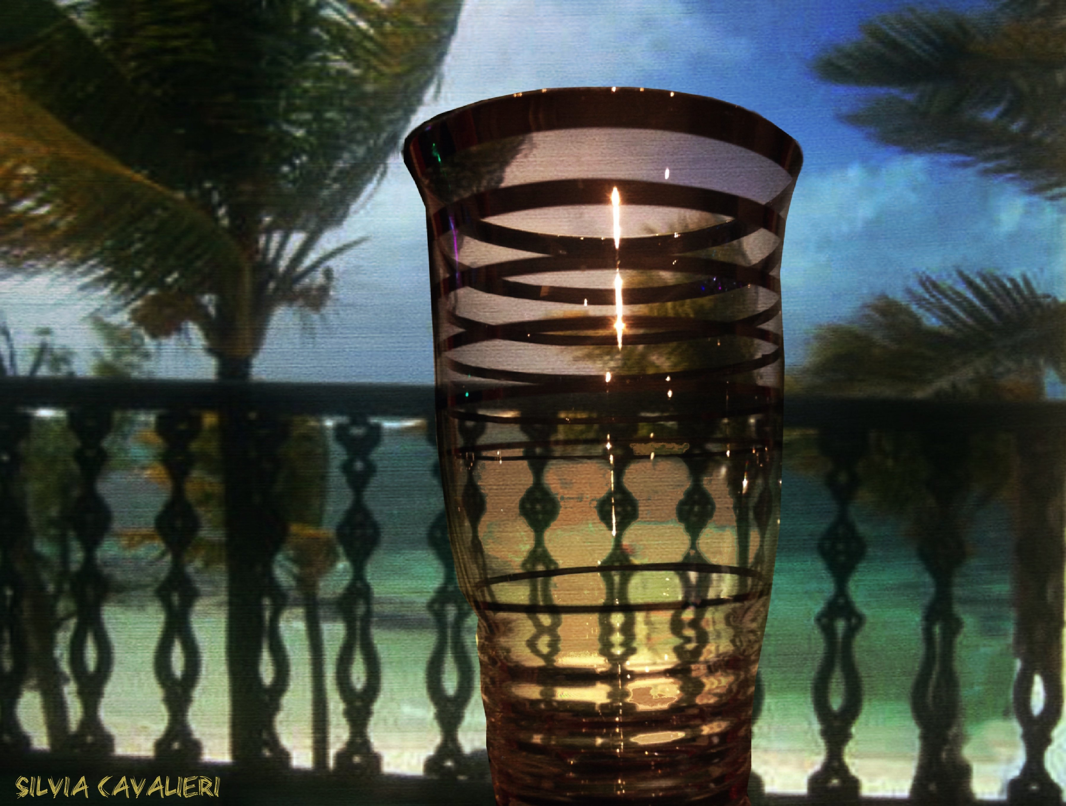 palme nel bicchiere di rum